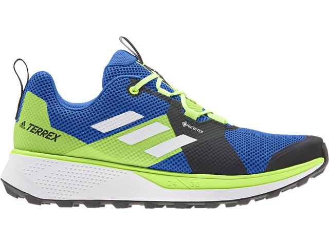 adidas TERREX Two Gore-Tex Løbesko Herrer, glory blue/footwear white/signal green